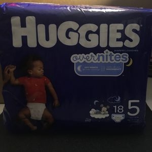 Huggies Overnites Nighttime Diapers, Size 5 for Sale in Chino Hills, CA