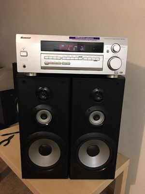 Pioneer receiver/Sony speakers for Sale in Shoreline, WA