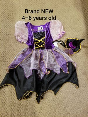 Halloween New with tags age 4-6 years adorable witch costume for Sale in Renton, WA