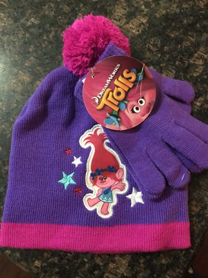Trolls beanie and gloves for Sale in Arlington, TX