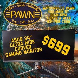 """Asus 34"""" curved gaming monitor for Sale in Watsonville, CA"""