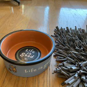 Life Is Good Dog Food/water Bowl for Sale in Oakland, CA