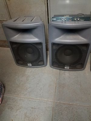 dj equipment for sale: PEAVEY pair of 15 inches speaker are $200. EV pair of 12. (model # SX100) are $300 amp are $100 ea. for Sale in New York, NY