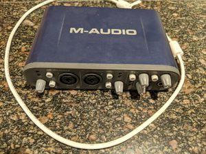 M-audio fastrack pro 4x4 audio interface for Sale in Menlo Park, CA