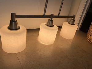 3 lights chandelier light fixture pendant lamp for Sale in Hallandale Beach, FL