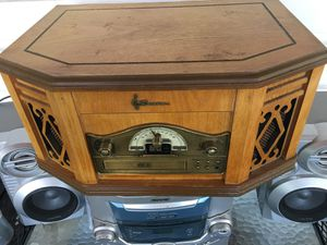 Emerson wooden tape cd record player for Sale in Washington, PA