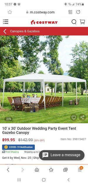 10' x 30' outdoor gazebo canopy for Sale in Bakersfield, CA