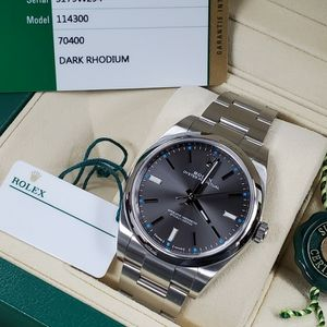 Rolex Oyster Perpetual OP 39 Grey Tiffany Blue Index Box Papers for Sale in Los Angeles, CA