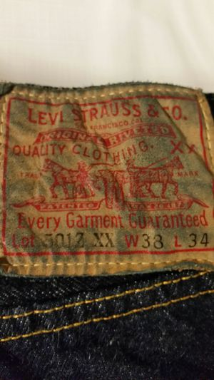 Levi's 501 zxx redline size 38w/34l for Sale in Boston, MA