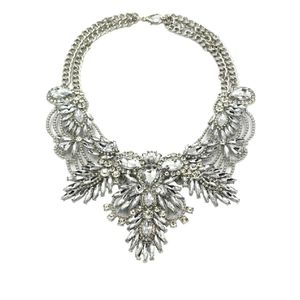 Silver noble granular crystal flower necklace for Sale in Redwood City, CA