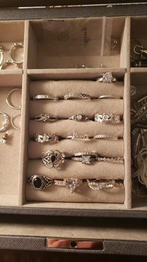 Lots of sterling silver rings for Sale in Palm Beach Gardens, FL