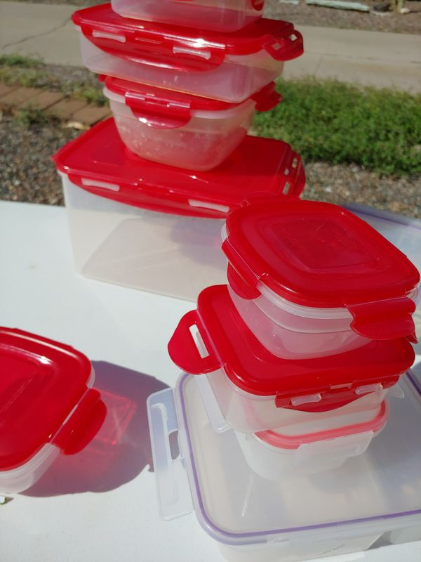 Lock and lock storage containers