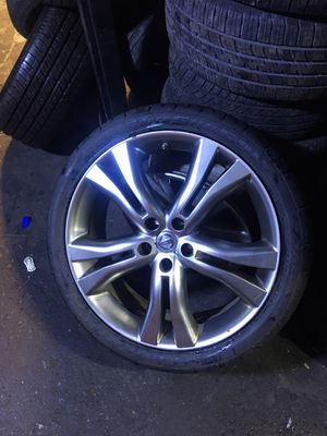 "4- Nissan rims and tires 20"" for Sale in Queens, NY"