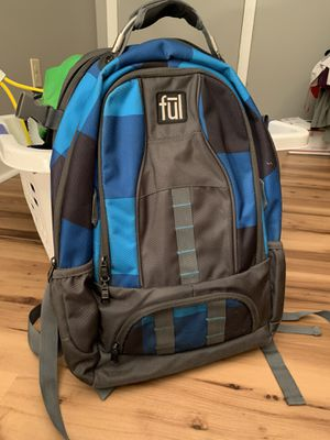 Boys blue padded backpack school laptop pocket ful for Sale in Painesville, OH