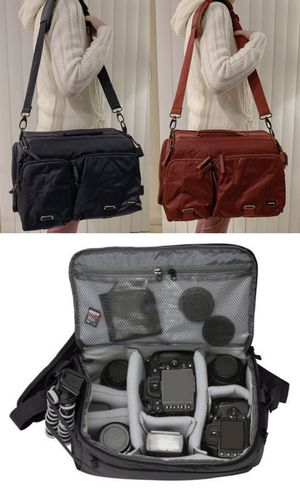 New in box $12 each cross body Navy or Dark Red Professional SLR Camera Bag cushioned for Sale in Covina, CA