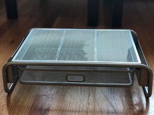 Metal Mesh Desktop Monitor Stand with Drawer for Sale in Chicago, IL