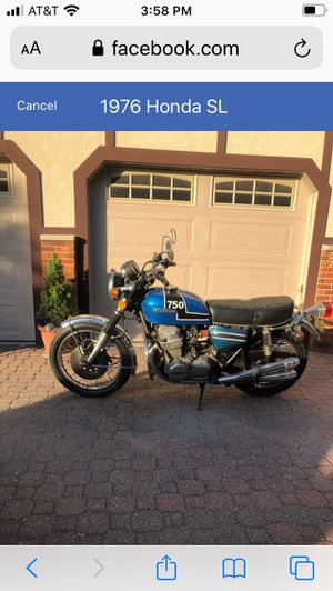 1976 Honda motorcycle 750 K for Sale in Normal, IL