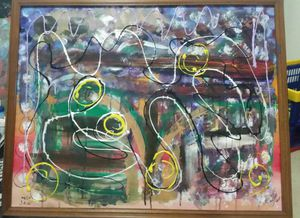 Abstract Painting Framed by me for Sale in Austin, TX