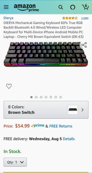 DIERYA DK63 60% Mechanical Gaming Keyboard for Sale in Fort Lauderdale, FL