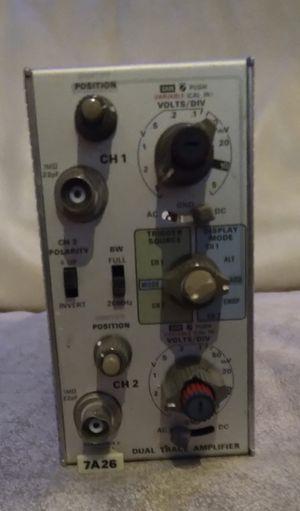 TEKTRONIX - 7A26 - DUAL TRACE AMPLIFIER 200 MHz for Sale in Seattle, WA