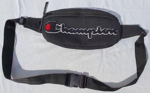 Champion Waist Bag Men Fanny Pack Prime Logo Sling Shoulder Black Adjustable NEW for Sale in Pompano Beach, FL