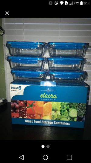 Glass Food Storage Containers (6-Pack) for Sale in Stanton, DE