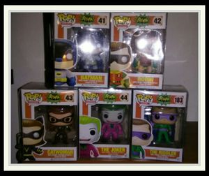 FUNKO POP TV Classic 1966 Batman #42 Robin #42 Catwoman #43 The Joker #44 vaulted/retired series 1 complete set Collectors Toy Figures The Riddler for Sale in King of Prussia, PA