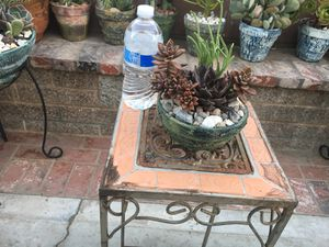 Rustic centerpiece Bowl with succulent for Sale in Fontana, CA