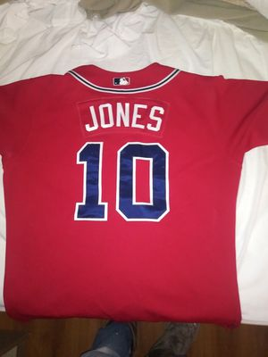 Authentic Atlanta Braves chipper jones jersey for Sale in San Angelo, TX