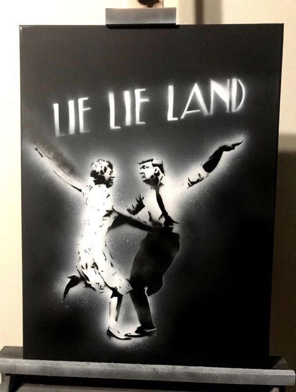 Lie Lie Land 16x20 Graffiti Canvas