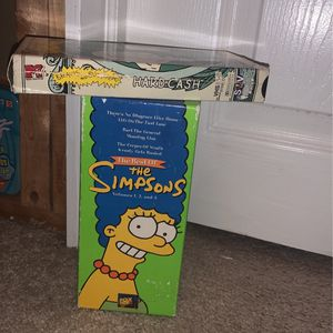 The Simpsons VHS Box set 1997 And Beavis And Butthead 1998 Vhs for Sale in Langhorne, PA