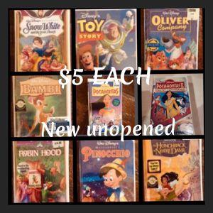 (9) VTG-Disney Videos -Unopened. $5 Each Video for Sale in Seal Beach, CA