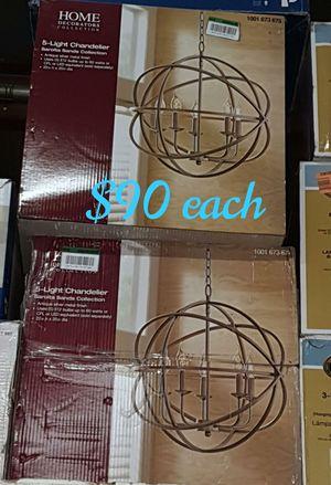 5 light chandelier brushed nickel color for Sale in Bakersfield, CA
