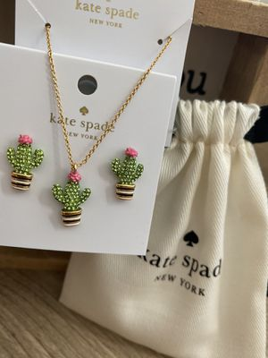 Kate Spade Cactus Pendant Necklace Set for Sale in Katy, TX