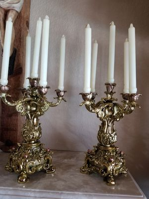 Beautiful pair of candles holders or candelabras for Sale in Miami, FL