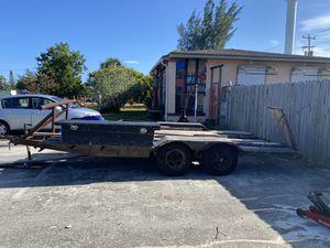 18 ft heavy duty trailer; load capacity 17k for Sale in Lake Worth, FL
