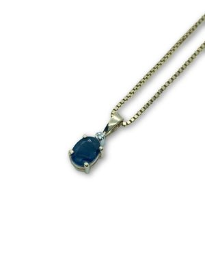 14k Sapphire/Diamond Necklace for Sale in Alexandria, VA