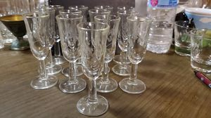 Set of 13 Antique Wine Glasses for Sale in Cleveland, OH