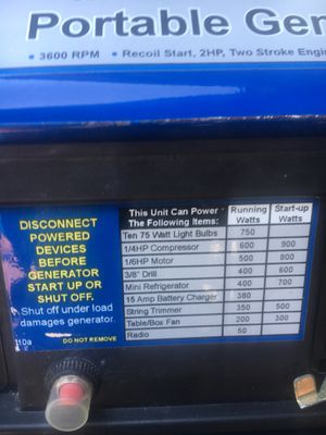 Portable generator for Sale in Houston, TX