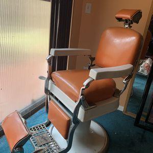 Orange Leather Antique Koken Barber Chair Circa 1920's for Sale in Miami, FL
