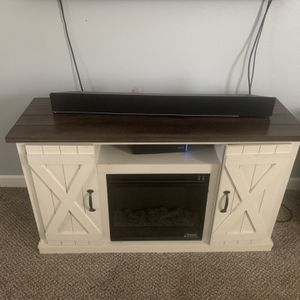 Tv Media Console With Electric Fire Place for Sale in Chesapeake, VA