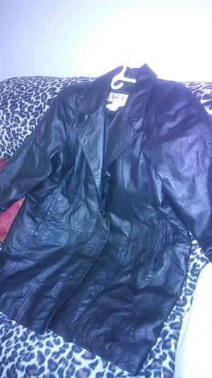Women Blk Sz 16 Leather Coat for Sale in Tampa, FL