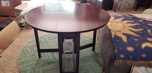 Antique Drop Leaf Table 3'x3' round for Sale in Mint Hill, NC