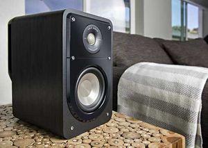Polk Audio - Signature Passive 2-Way Bookshelf Speaker (Pair) - Black Washed Walnut for Sale in Canton, GA