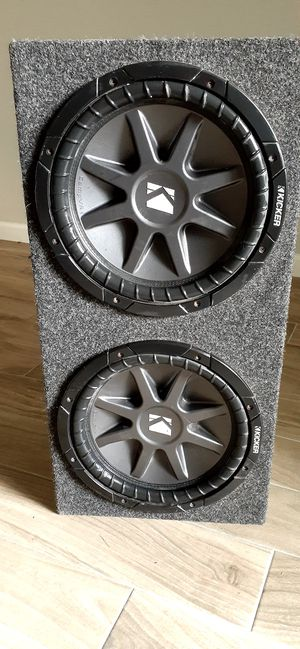 "Kicker subwoofers excellent conditions 10"" for competitions for Sale in Houston, TX"