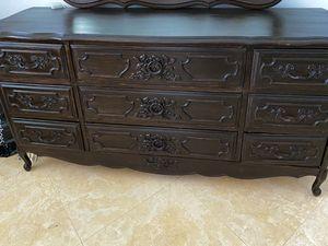 antique refurbished 9 drawer dresser for Sale in Fort Lauderdale, FL