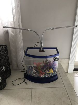 5 galon fish tank with LED light for Sale in Sterling Heights, MI