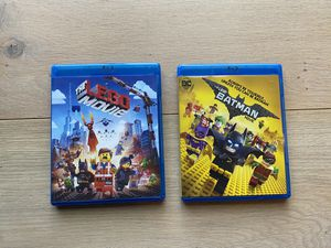 Lego Movie and Lego Batman Blu-rays - perfect condition! for Sale in Bothell, WA