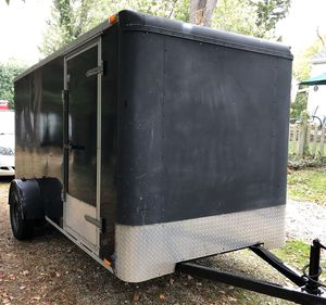 6x12 Enclosed Cargo Trailer - Ramp Door for Sale in Bedford, OH
