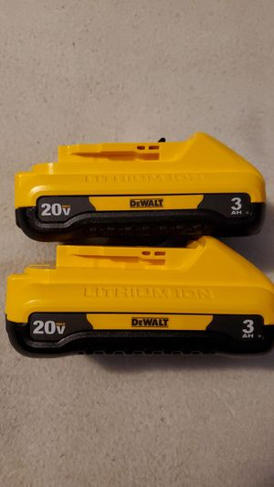 New Dewalt 20V Max 3ah Batteries. 2 total. Price is firm for Sale in Avon, IN